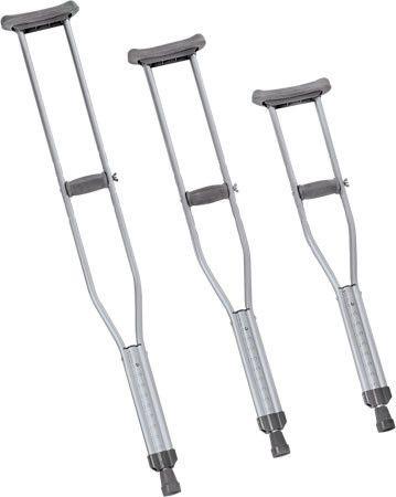 Crutches Aluminum Quick Fit