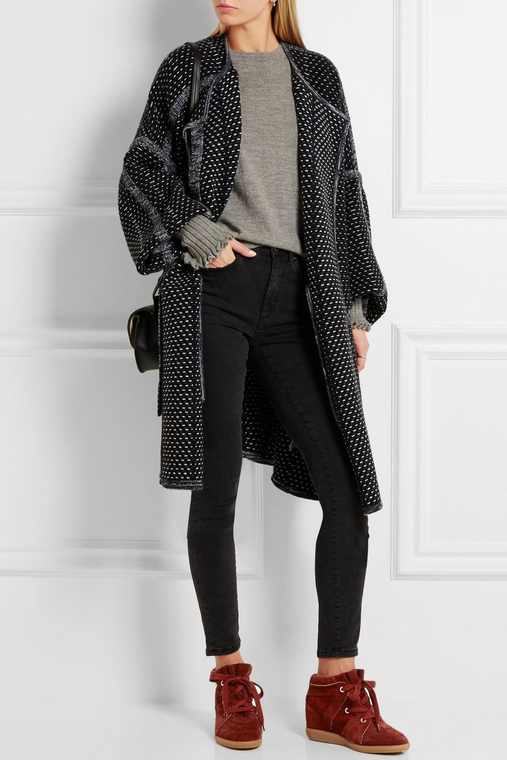 Isabel Marant | Bobby suede wedge sneakers | NET-A-PORTER.COM