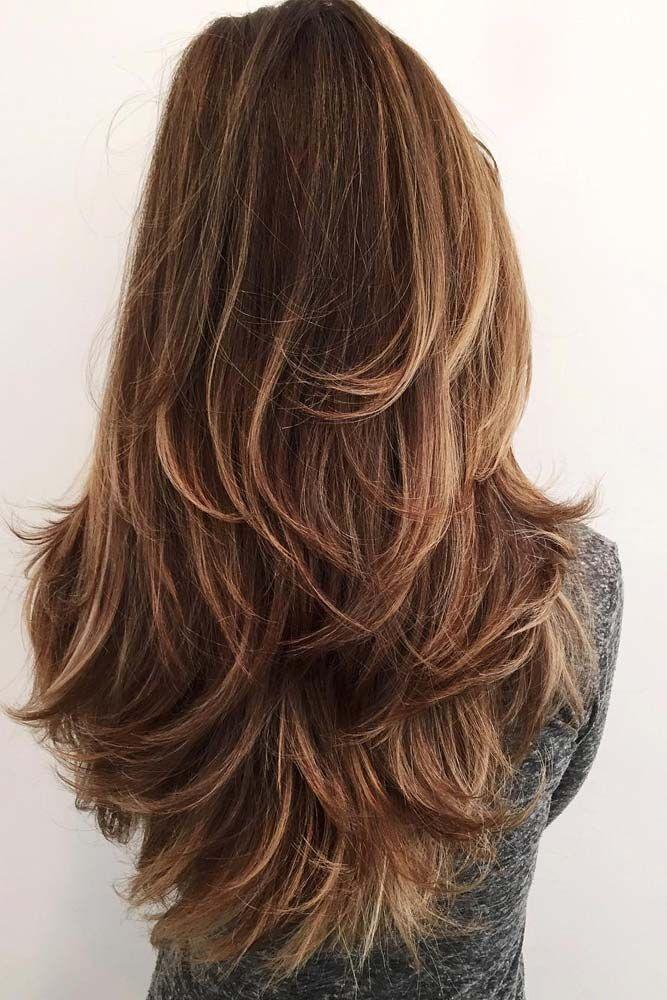 Haarschnitt langes Haar #stufenschnitt #dünnehaare #beachwaves #mädchen #stufi