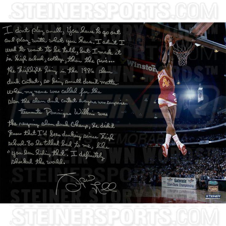 Spud Webb Signed 1988 NBA Slam Dunk Contest 16x20 Story Photo