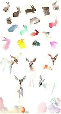 Aquarelles animaux intentions!!!