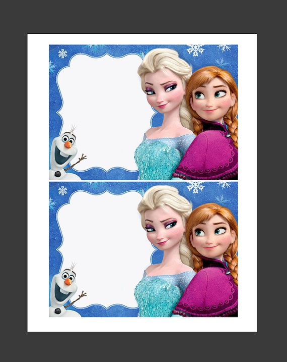 INSTANT DOWNLOAD - Disney Frozen Blank Invitations Anna Elsa Olaf - Make Your Own Invites, Signs, Party Supplies and Decorations on Etsy, $2.99