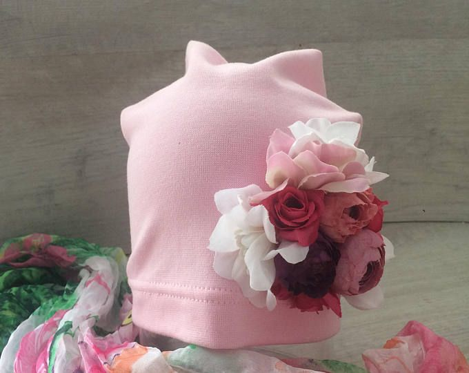 Designer Beanie \ cotton hat kid beanie summer beanie kids headwear crochet fashion woman beanie beanie with flowers handmade designer hat