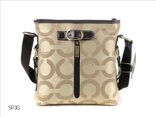 MOM!! I want this one! Coach New Poppy Op Art Swingpack Khaki