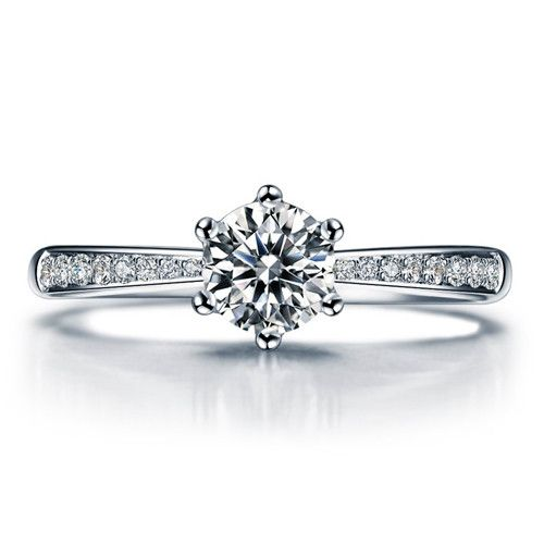 Diamantring weißgold  Die besten 20+ Verlobungsring weißgold diamant Ideen auf Pinterest ...