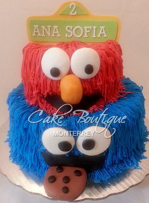 Elmo cake, pastel plaza sésamo, plaza Sesamo