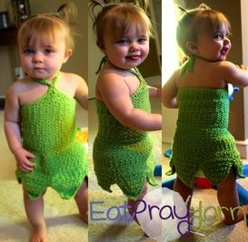 Toddler Tinkerbell Crochet Costume: free pattern