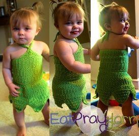 Toddler Tinkerbell Crochet Costume: free pattern