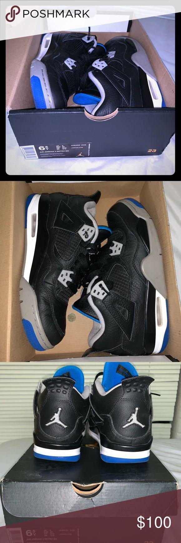 "Size 6.5 GS Air Jordan 4 ""Motorsport Alternate"" Air"