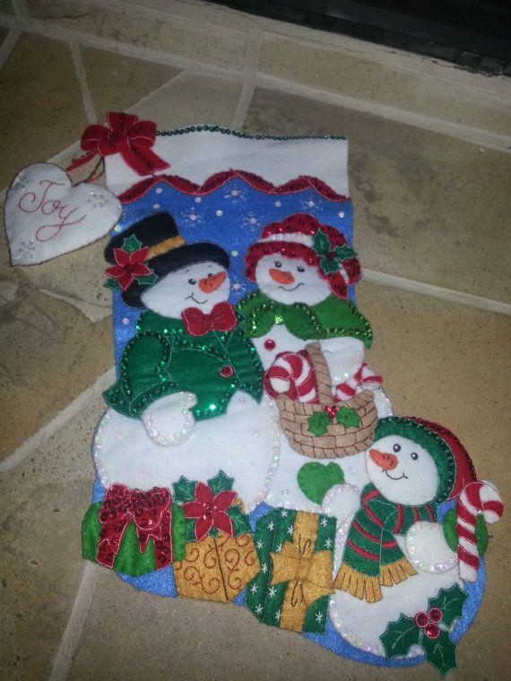 Handmade Bucilla Stocking - Our Family
