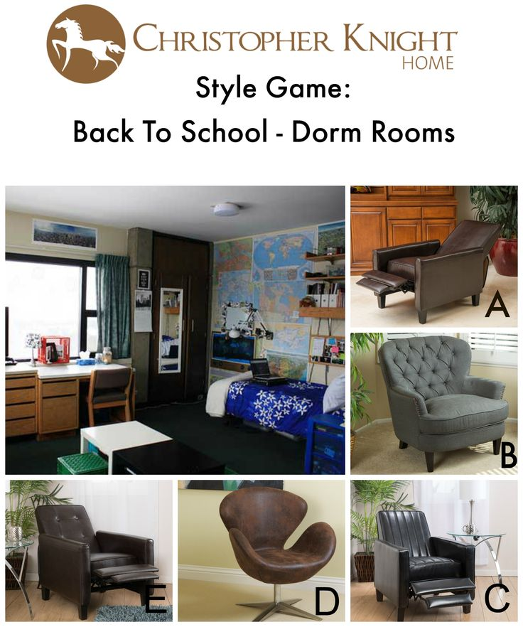 which study chair goes best in this dorm room go to christopher knight home facebook - Dorm Room Chairs