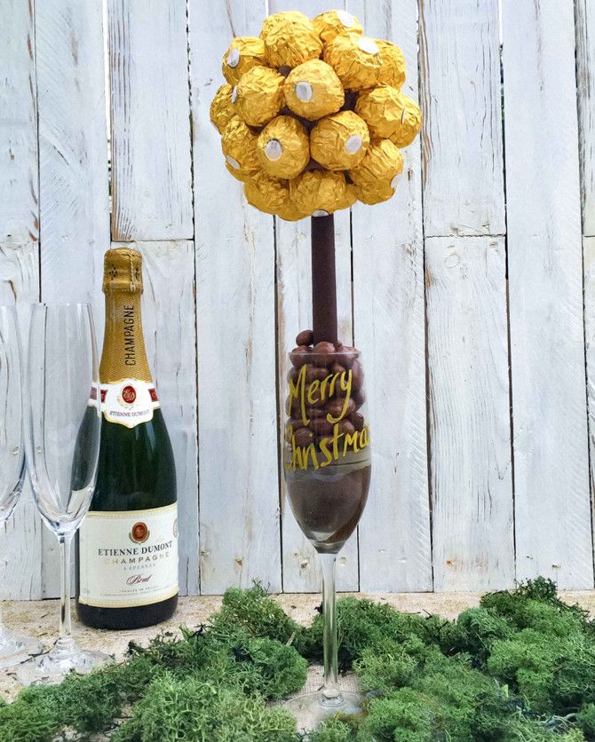 Ferrero Rocher Chocolate Champagne Flute from Funky Food Gifts