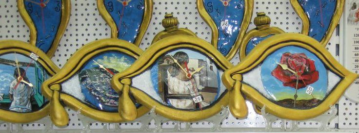 rellotge de ceramica pintat a mà