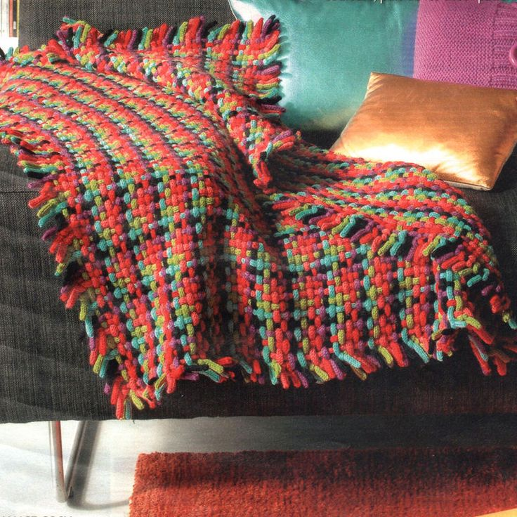 plaid en tricotin
