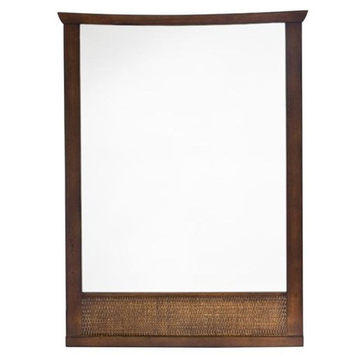 American Standard Tropic 31 in. x 23-1/4 in. Framed Wall Mirror in Nutmeg