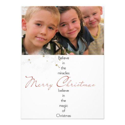 tarjeta elegante de la foto del navidad anuncio personalizado