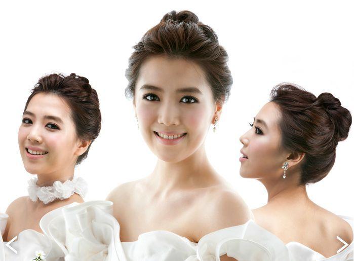 Image result for korean bridal side bun