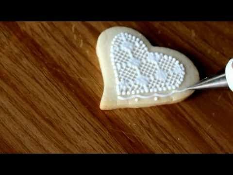Lacy Icing on cut-out cookies. I NEED to learn how to make these... they're so beautiful! :)
