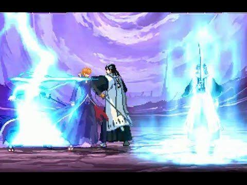 Bleach Game On Pc - Ichigo Bankai (2) vs Byakuya Kuchiki (2) - HD