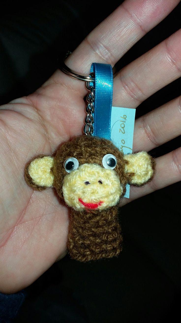 Mono crochet llavero