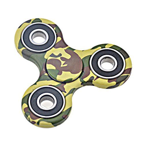 Fidget Hand Tri Spinner Gyro Desk Toys for Children and Adults(vert camouflage): Material: ABS Plastic + Bearing Our Bearing Features: High…