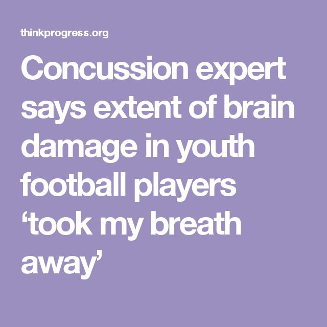 Concussion expert says extent of brain damage in youth football players 'took my breath away'