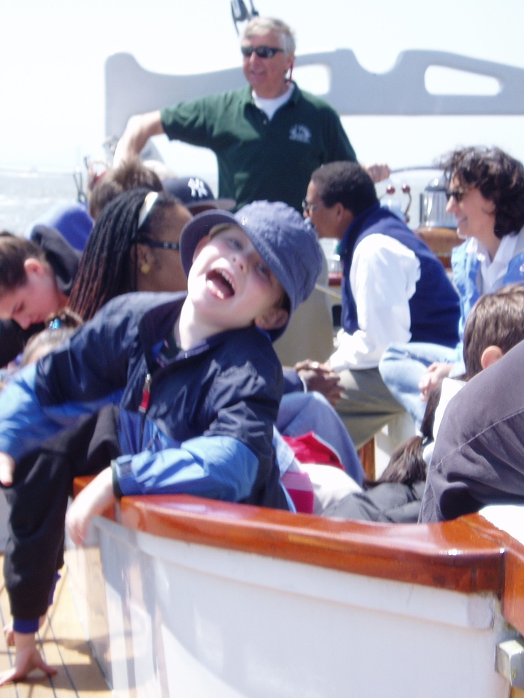 Sailing with Classic Harbor Line is fun for the whole family.  Trust us, he's having a blast!