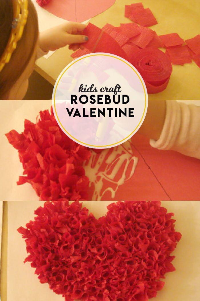 How To Make Rosebud Valentines Boston Mamas Easy Valentine Crafts Valentine Crafts Easy Kids Valentines