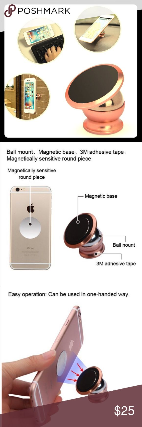 MyBat | Universal Magnetic Holder-WP | Rose Gold 1 x MYBAT Universal Magnetic Holder-WP, Rose Gold . Wide compatibility: Can used for most smartphone, GPS, Car DVR, MP4,PSP, etc. 360°rotation: 360°versatile ball joint allows multiple viewing angles. Easy operation: Can be used in one-handed way. Features Wide compatibility: Can used for most smartphone, GPS, Car DVR, MP4,PSP, etc. 360°rotation: 360°versatile ball joint allows multiple viewing angles. Easy operation: Can be used in one-handed…