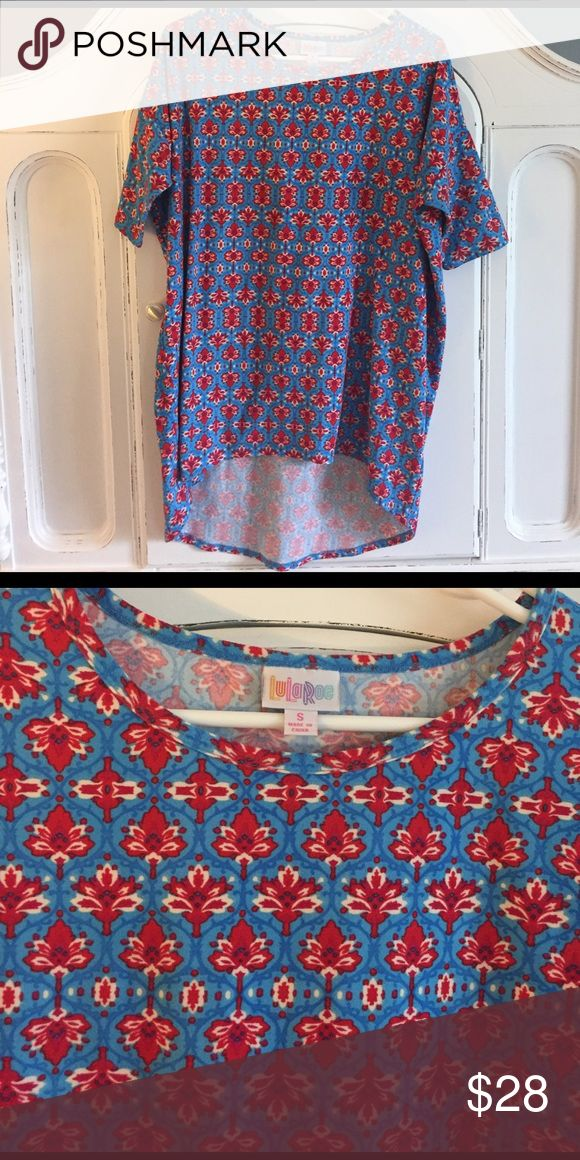 Lularoe Irma - leggings material, Americana Super soft Irma in size small made of leggings material! Love this one - just a bit too big! perfect colors for 4th of July. LuLaRoe Tops Tunics