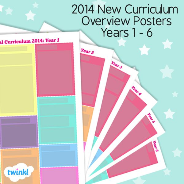New Curriculum Overview Posters Year 1 to 6 - Twinkl