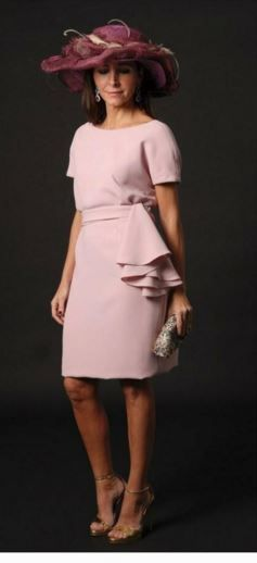 Vestido rosa palo corto 2018