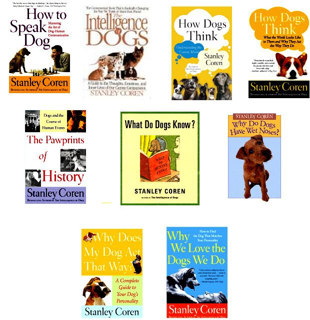 A sampling of dog books by Stanley Coran