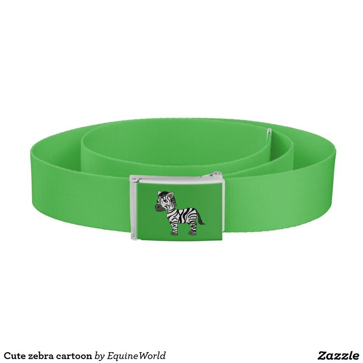 Cute zebra cartoon belt