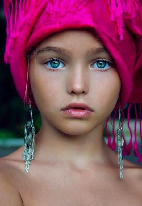stunning eyes pink blue-#34