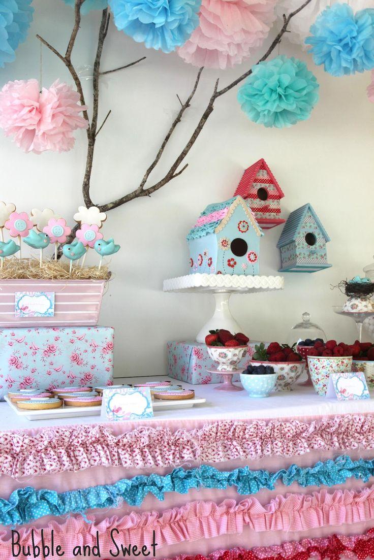 beautiful+prettiest+bird+party+blue+pink+red+ruffles+sweet.jpg (1067×1600)