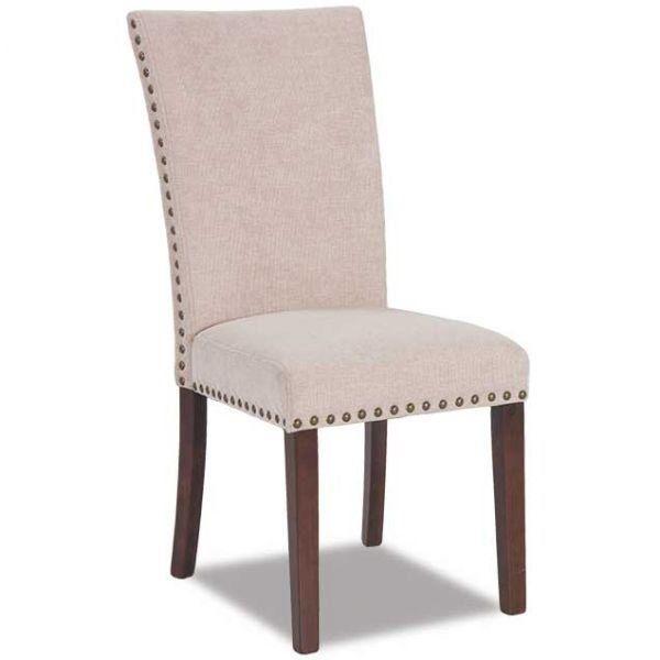 Cream Chenille Parsons Chair