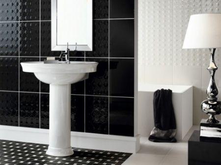 En Güzel Siyah Beyaz Banyo Modelleri 2015 dekor önerisi
