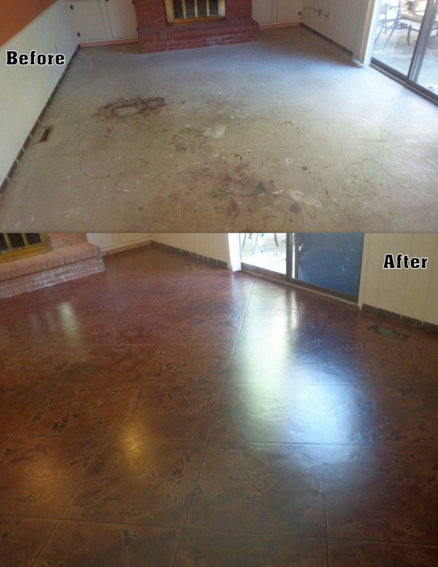 8 best images about before after concrete staining on for How to clean concrete floors before staining