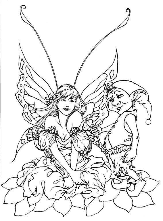 Free A4 Colouring Pages For Adults : 214 best fairies coloring pages images on pinterest