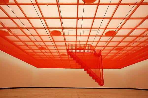 'Staircase-III' by South Korean sculptor & installation artist Do-Ho Suh (b.1962). Fabric Installation. via bumbumbum