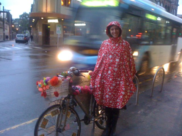 Psychic Sarah's Polka-dotted Riding Cape