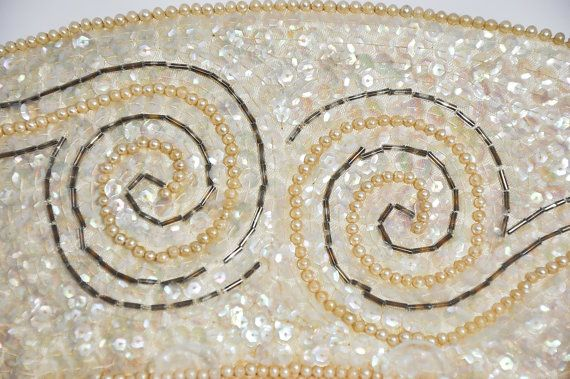 Beaded Clutch Purse Art Deco Pencil Case by StarfishCollectibles