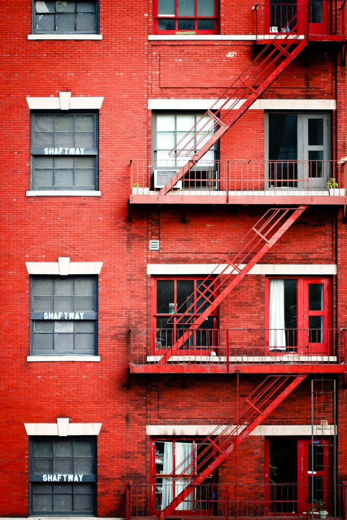 fire escape, meatpacking, nyc