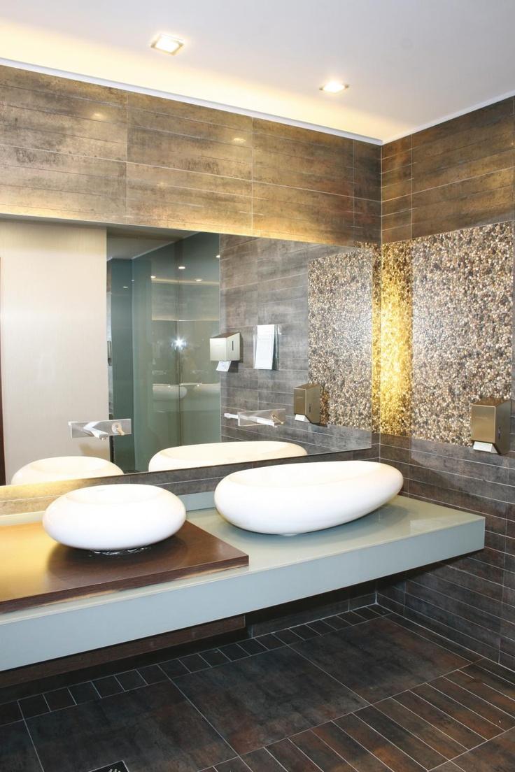 Bathroom Washroom Design Spa Bathroom Design Ideas: :: Horizon Tile :: Metal Tile Looks For Commercial