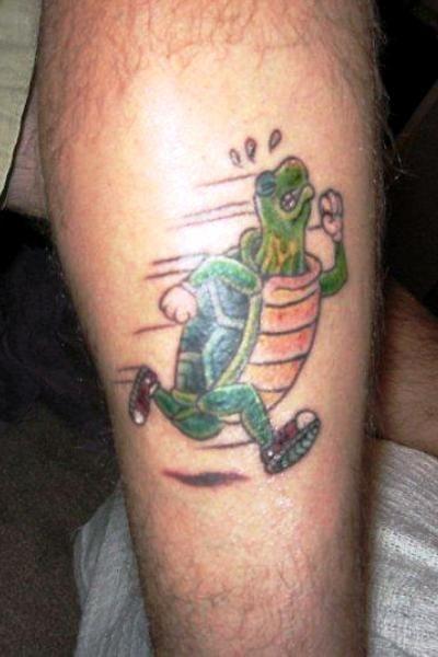Heh heh heh  -  I love it!  |  41 Awesome Running-Inspired Tattoos | Runner's World
