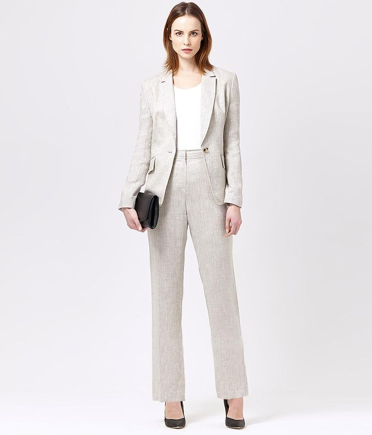 Pure Linen Trouser Suit Women S Suits Austin Reed Suits For Women Casual Fall Outfits Fashion Clothes Women