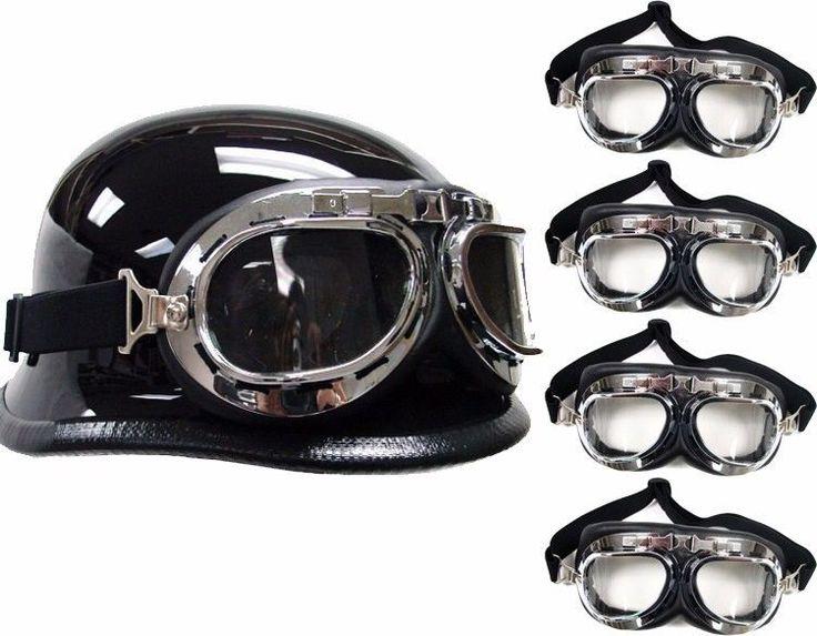 LOT 5~WWII Raf Aviator Motorcycle Moped Helmet Goggles Biker Wholesale #Unbranded #EyeWear