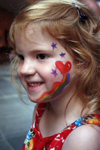 Heart Face Painting 3