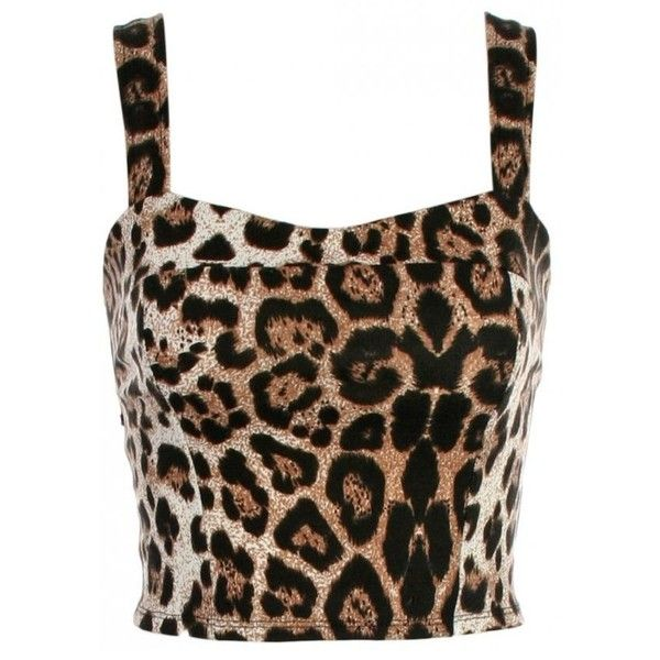 KRISP Animal Print Bow Back Cropped Top (22 CAD) ❤ liked on Polyvore featuring tops, shirts, crop top, blusas, bow back top, crop shirt, animal print shirt and brown crop top